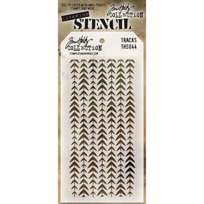 "Tim Holtz - Layered Stencil ""Tracks"" 4.125"" X 8.5"""