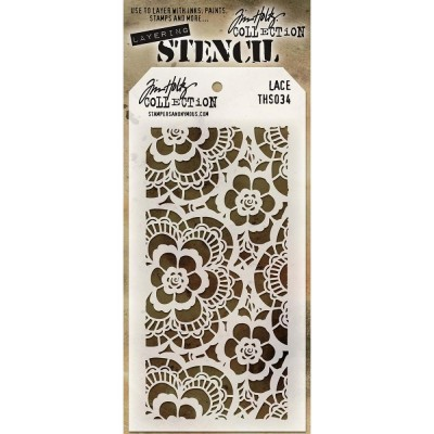 "Tim Holtz Layered Stencil ""Lace"" 4.125"" X 8.5"""