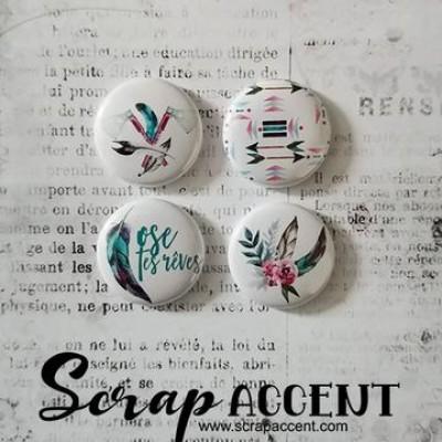 """Scrap Accent - Badges modèle """"Ose tes rêves """""""