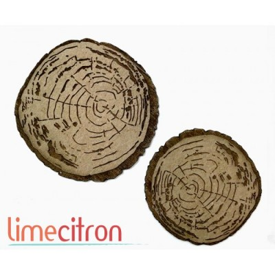 Lime Citron - Chipboard «Rondelles de bois»