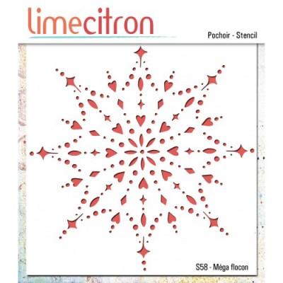 Lime Citron - Stencil «Méga flocon»