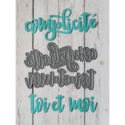 Simple à souhait - Dies «Complicité et Toi et Moi»