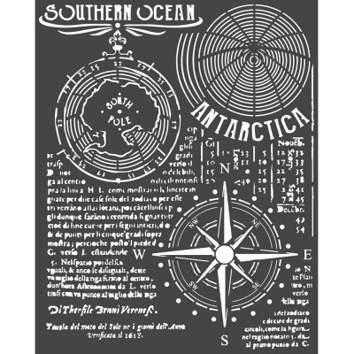 "Stamperia - Stencil Arctic Antarctic «Southern» 7"" X 9"""