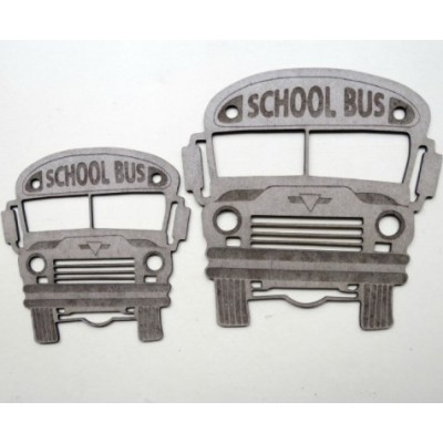Creative Embellishments - Chipboard  «School Bus»