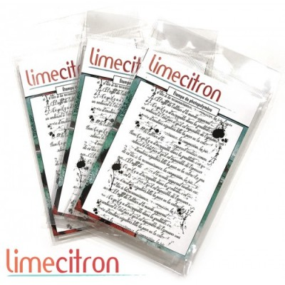 Lime citron  - estampe «Script»