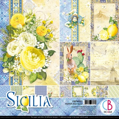 "Ciao Bella - Collection de papier 12"" X 12"" recto-verso 12 feuilles «Sicilia»"