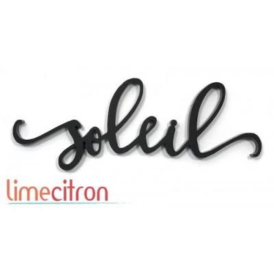Lime Citron - «Soleil» mot en acrylique noir