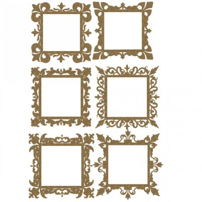 Creative Embellishments - Chipboard  «Square mini frames»
