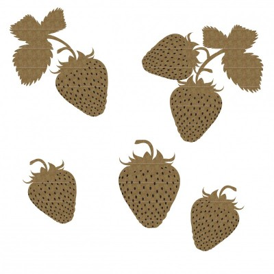 Creative Embellishments - Chipboard  «Strawberries»
