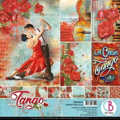 """Ciao Bella - Collection de papier 12"""" X 12"""" recto-verso 12 feuilles «Tango»"""