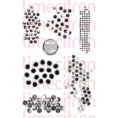 Lime Citron - estampe texture «Plein de ronds» 7 pièces