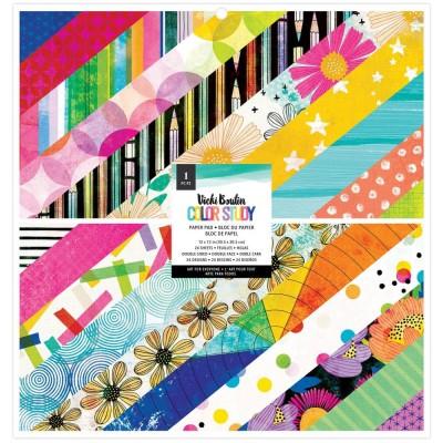"""PRÉCOMMANDE- Vicki Boutin - Ensemble de papier 12"""" x 12"""" collection «Color Study» 24 pages"""