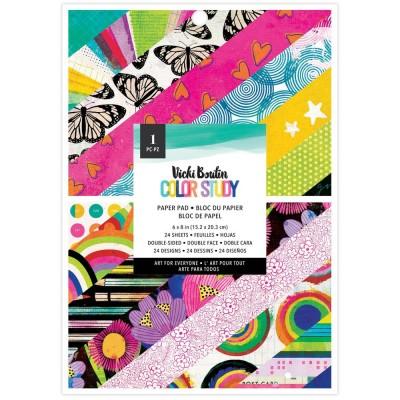 """PRÉCOMMANDE- Vicki Boutin - Ensemble de papier 6"""" x 8"""" collection «Color Study» 24 pages"""