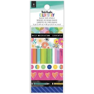 PRÉCOMMANDE- Vicki Boutin - Ensemble de washi tape collection «Color Study» 8 rouleaux