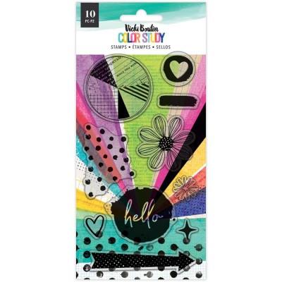 Vicki Boutin - Ensemble Estampes collection «Color Study» modèle «Hello» 10 pcs