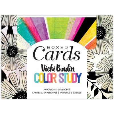 PRÉCOMMANDE- Vicki Boutin - Cartes avec enveloppes de la collection «Color Study»