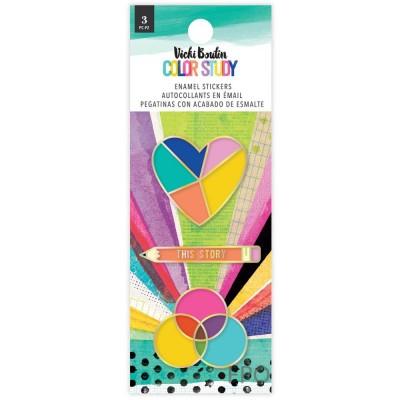PRÉCOMMANDE- Vicki Boutin - Autocollants collection «Color Study» modèle  «Enamel Stickers» 3 pièces
