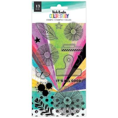 Vicki Boutin - Ensemble Estampes collection «Color Study» modèle «It's All Good» 13 pcs