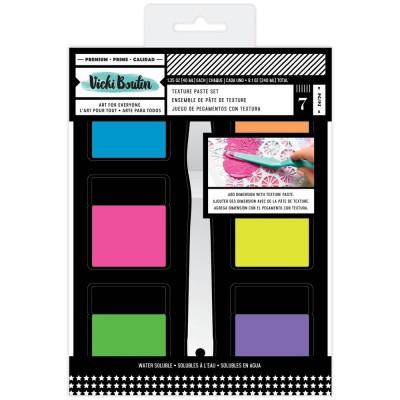 PRÉCOMMANDE- Vicki Boutin - Embellissements collection «Color Study Mixed Media Texture Paste Set» 6 pièces