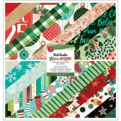 """PRÉCOMMANDE- Vicki Boutin - Ensemble de papier 12"""" x 12"""" collection «Warm Wishes» 24 pages"""