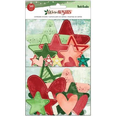 PRÉCOMMANDE- Vicki Boutin - Éphéméra collection «Warm Wishes Stars and Hearts» 50 pièces
