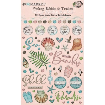 49 & Market - Autocollants «Wishing Bubbles & Trinkets» collection «Vintage Artistry Beached»