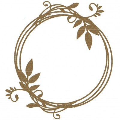 Creative Embellishments - Chipboard «Circle Vine Frame»