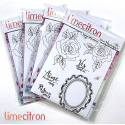 Lime citron  - Ensemble d'estampe «Vis Ris Aime»
