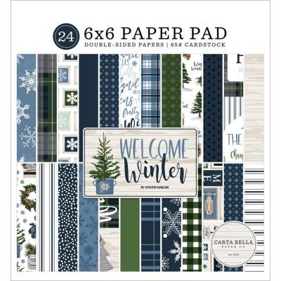 "Carta Bella - Bloc de  papier double face «Welcome Winter»  6"" X 6""   24 feuilles"