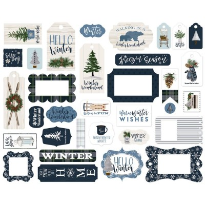 PRÉCOMMANDE- Carta Bella - Frames and Tags «Welcome Winter»  33 pièces