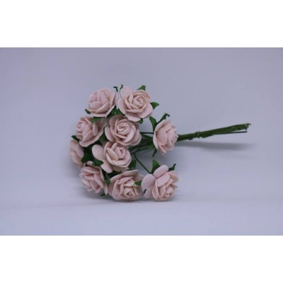WOC - 10  Pink Mist  Mulberry  open roses -15mm-