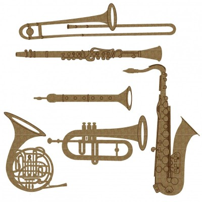 Creative Embellishments - Chipboard  «Wind Instruments»