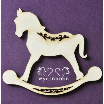 Wycinanka - Cheval à bascule