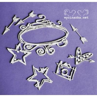 Wycinanka - Doodling - ensemble de 8 pièces