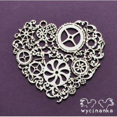Wycinanka - Around the Steampunk - coeur (modèle 1)