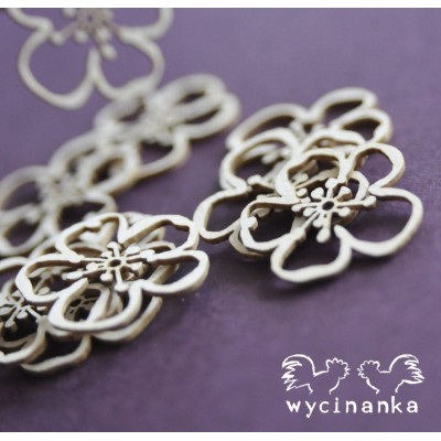 Wycinanka - Fleurs et herbes (paquet de 9 pièces)