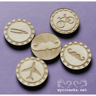 Wycinanka - MAN'S WORLD - badges 3mm
