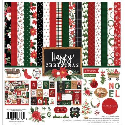 "Carta Bella - Ensemble de papier «Happy Christmas»  12"" X 12"""