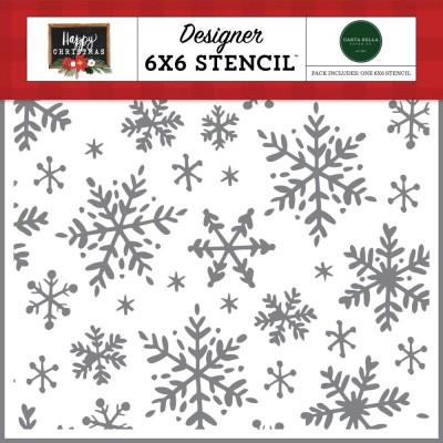 "Carta Bella - stencil «Happy Christmas» 6"" X 6"""