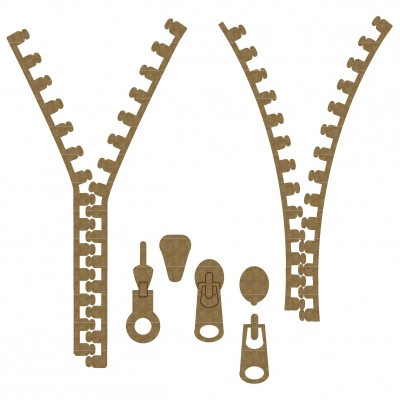 Creative Embellishments - Chipboard  «Zipper Set»