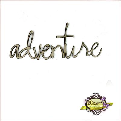 2 Crafty - Chipboard «Adventure»