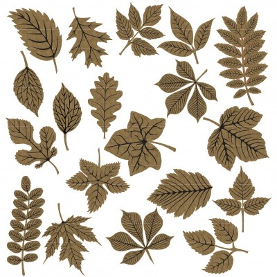Creative Embellishments - Chipboard «Autumn leaves» 20 pièces