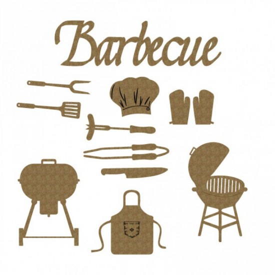 Creative Embellishments - «Barbecue» 12 pièces