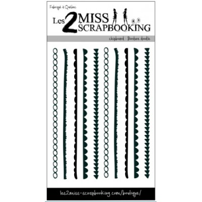 Les 2 Miss scrapbooking - Chipboard «Bordure doodle»