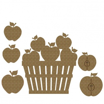 Creative Embellishments - Chipboard «Bucket of apples»