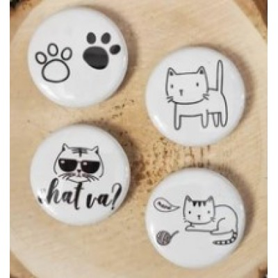 Scrap Accent - Badges modèle «Chat va?»