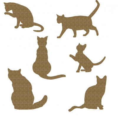 "Creative Embellishments - Chipboard ""Cat set"""