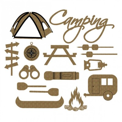 "Creative Embellishments - Chipboard ""Camping Set"""