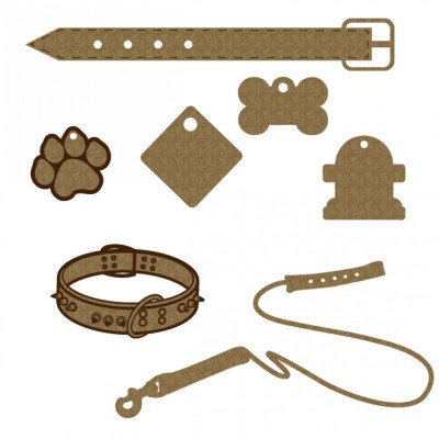 "Creative Embellishments - Chipboard ""Dog Set"""