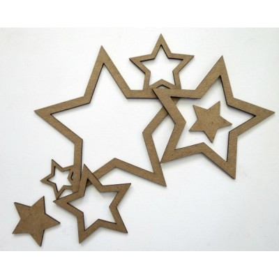 "Creative Embellishments - Chipboard ""Stars Frame"""